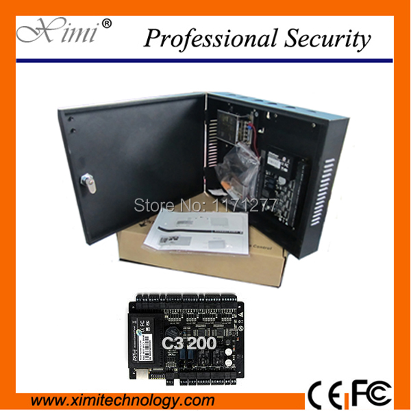 Two doors two ways with power pretect box 30000 users TCP/IP RS485 security device system Interlock door access control board(China (Mainland))
