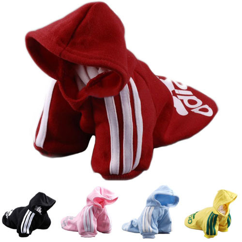 Free Shipping ! 2014 New Fashion Autumn Winter Summer PET Dog Clothes Cotton Sportswear Cool Clothes For Dogs adidog Hot Sale!!!(China (Mainland))