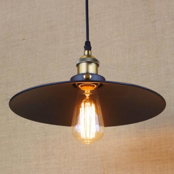 Edison-Bulb-Loft-Style-Industrial-Lamp-Vintage-Pendant-Lights-Rustic-Black-Ir...