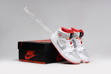 Free shipping new 2016 womens air jordan 1 one retro mid white gold hare with original box for sale woman size Eur 36 to Eur 40(China (Mainland))