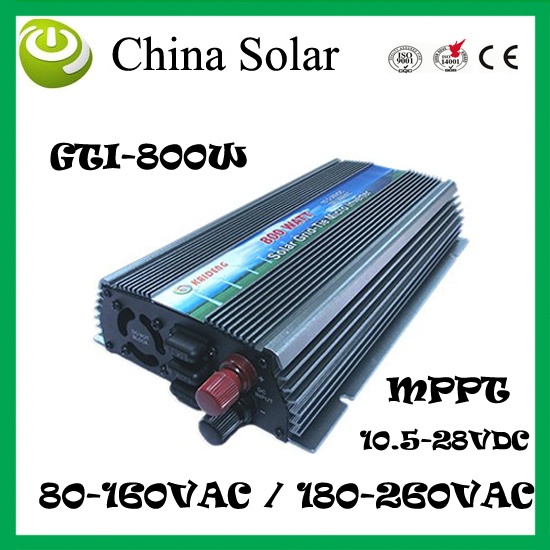 Grid Connect Inverte 800W GTI 800 Solar Photovoltaic System to AV110 / 230V(China (Mainland))