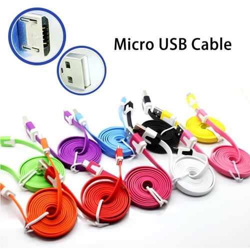 Micro Usb Cable For Nokia Moto htc Xperia LG Nexus galaxy S3 S4 S5 mini Usb cable Sync Data Charger cable 1m Colorful Noodle(China (Mainland))