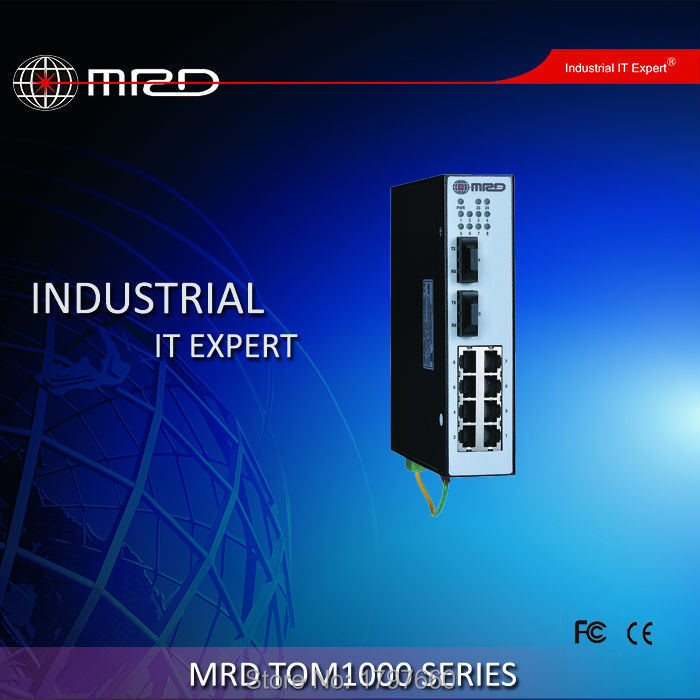MRD TOM1000 Series Switch Unmanaged 8 100M TX ports +2 fixed Gigabit optical ports TOM1000-ALD2008G5-ST(China (Mainland))