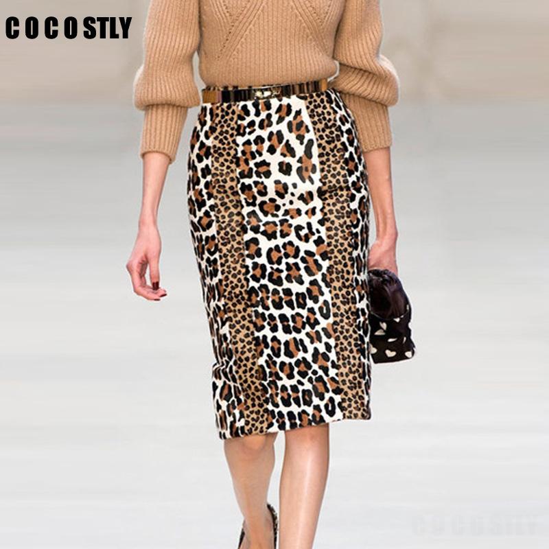 popular leopard print pencil skirt buy cheap leopard print