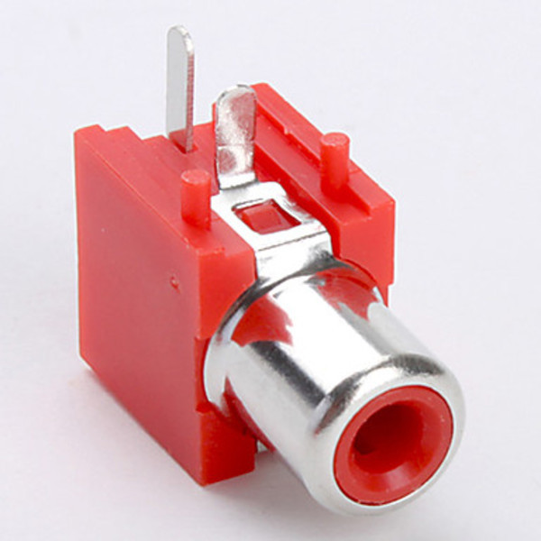 Dreamstar AV-1 RCA Jack Socket for Electronics DIY Use (Red, 10 Pieces a Pack)(China (Mainland))
