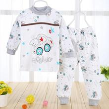 (2pcs/set)cheapest Newborn Baby Clothing Set Brand Baby Boy/Girl Clothes 100% Cotton Cartoon Underwear,Free Shipping NT046(China (Mainland))