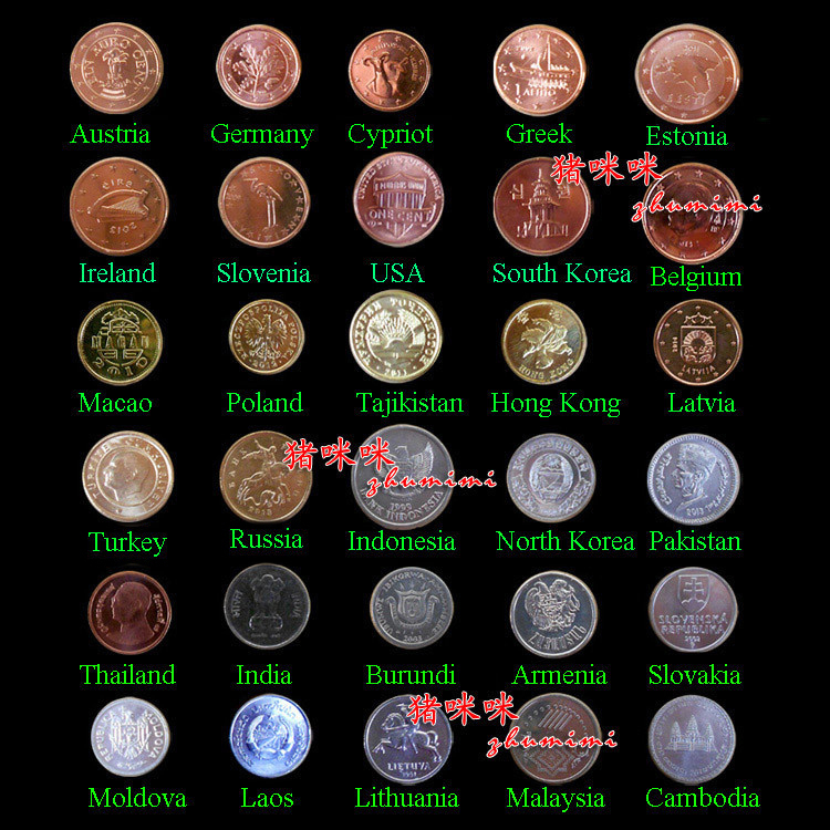 30 Coins Collection Set From 30 Countries Fine Coins And 100% Original Genuine Free Shipping(China (Mainland))