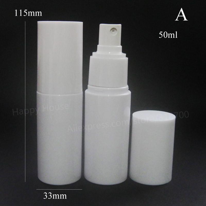 24 x 50ml White Perfume Bottle 50CC Mist Sprayer Bottle 50ml White Lotion and Pump Bottle<br><br>Aliexpress
