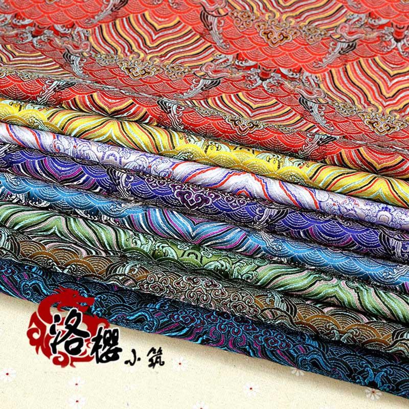 Woven damask silk satin costume hanfu formal dress baby clothes kimono cos clothes jacquard brocade fabric moir(China (Mainland))