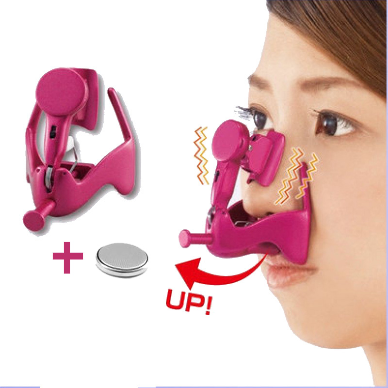 Electric Vibro Nose Massage Nose Clip Up Nose Lifting Shaping Shaper Bridge Straightening Massager With Lithium Battery(China (Mainland))