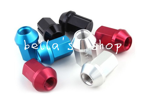 free shipping 35mm RAYS lug nuts 12 x 1.25mm /12 x 1.5mm  red/blue/black dura-nuts duralumin lock and nuts