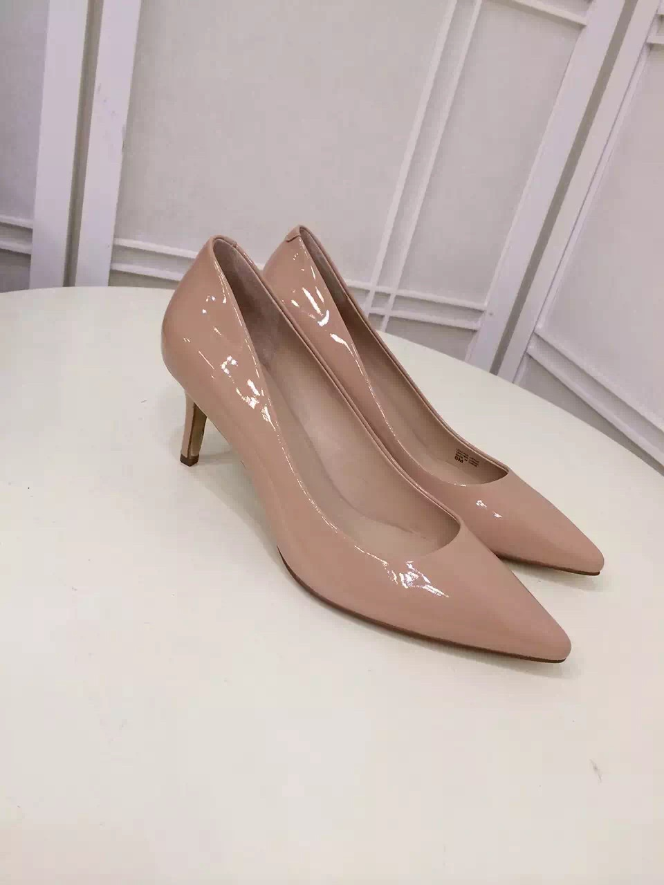 2016 SS new pumps elegant office lady women ann pointed toes thin high heels fashion shoes genuine leather shoes