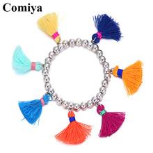 Comiya new design metal mixed color tassel bracelet pulseiras para as mulheres vintage alloy bracelets & bangles for women(China (Mainland))