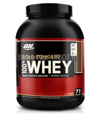 100% Natural GS Gold Standard Optimum Whey protein isolate , whey powder for body building for athletes 5lbs(China (Mainland))
