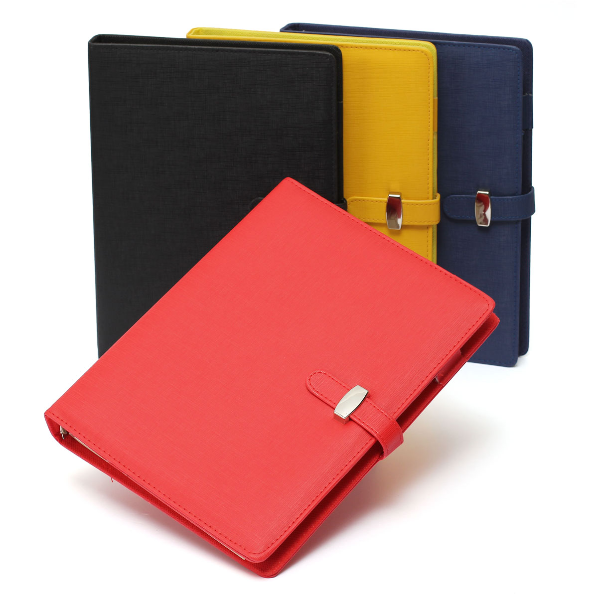 Modern Design B5 Personal Pockets Organiser Planner PU Leather Cover Filofax Diary Notebook Spiral Fit For Office Student(China (Mainland))