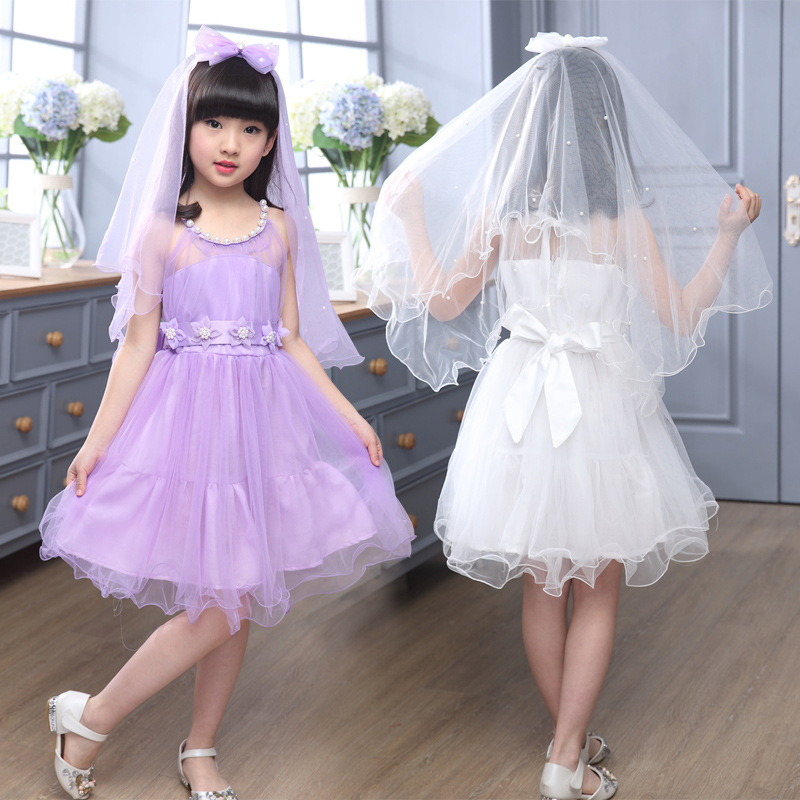 Kids Girls Dresses Summer 2016 Children Clothing Flower Girls Dresses For Party And Wedding Princess Dress Girl Clothes Age3-15Y(China (Mainland))