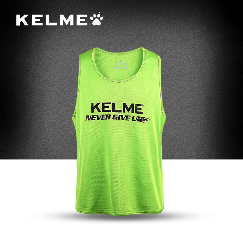 Top quality Kelme Soccer Sleeveless Jersey men breathable wicking sport training jersey Football jersey Summer Sportswear(China (Mainland))