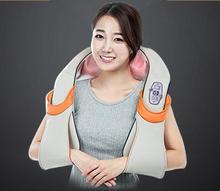 U forme électrique Shiatsu retour épaule au cou masseur corps infrarouge 3D pétrissage masseur ue brancher fiche plate(China (Mainland))