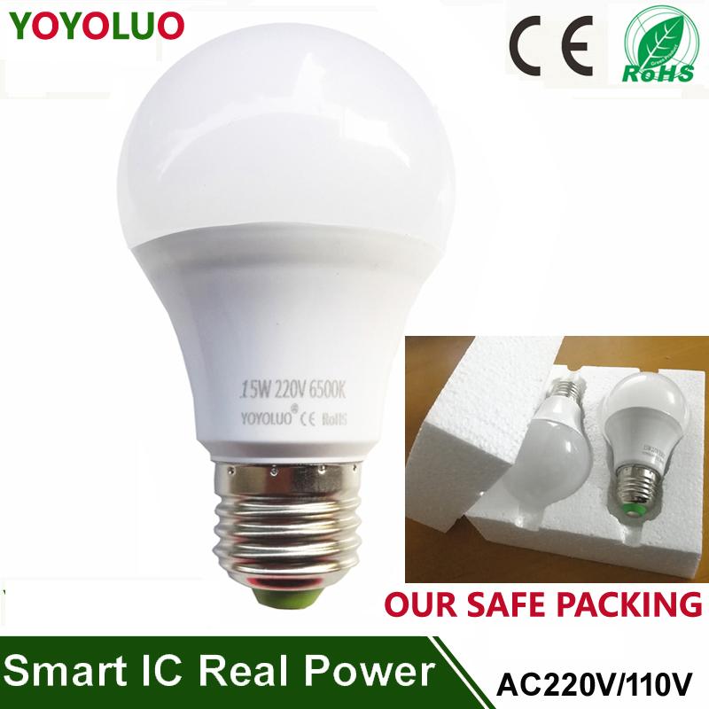 High quality Lampada led lamp E27 SMD 2835 led bulb Light B22 3W 5W 7W 9W 12W 15W 110v 220V Cold Warm White Led Spotlight light(China (Mainland))