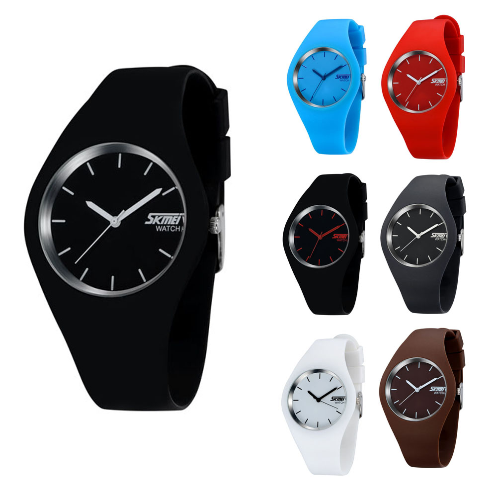 2015 Newest Fashion Brand Women Colorful Jelly Watch Men Casual Silicone Band Quartz Wristwatch 10M Waterproof Sport watch - Atolla Global Flagship Store store