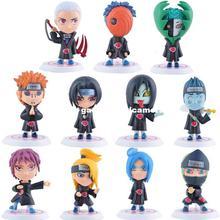 Japanese Anime Figures Naruto Q Edition Akatsuki Members Doll child toys action figure naruto - UFO Technology Co., Ltd store
