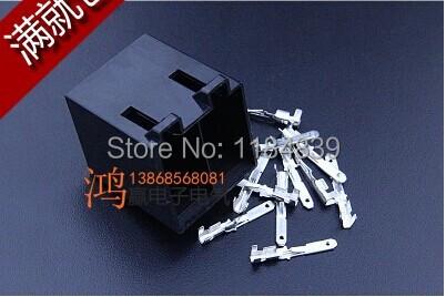 5 set kit Mass baolai car audio CD 16 pin hole plug wire tail line audio connectors modified free shipping(China (Mainland))