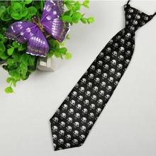 brand ties gravata corbatas hombre Black white skull Children 28cm 6cm necktie wedding dress pajaritas hombre