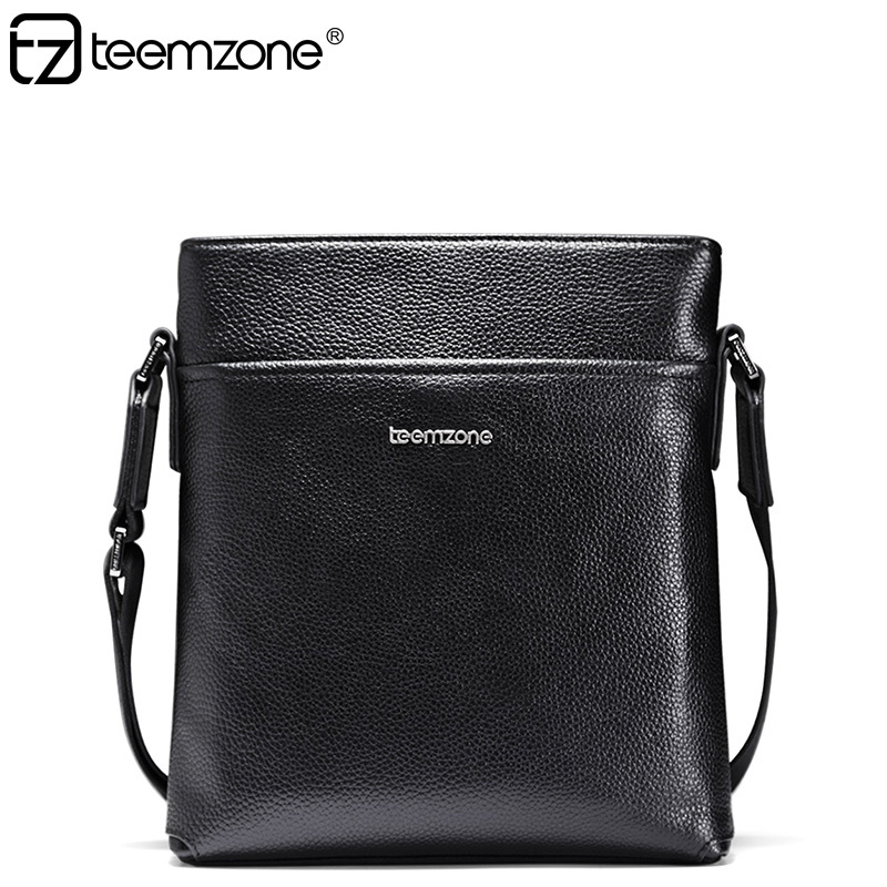 teemzone Fashion European style Business Mens Bag Genuine Leather Casual Messenger Shoulder Satchel Travel Tablet T0985 - Guangzhou Aowang Trading Co.,Ltd store