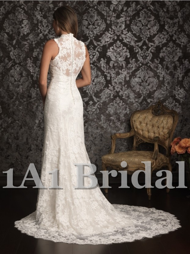embroidery Backless Mermaid style Chapel Train Wedding dress cap sleeves Lace wedding gown B074