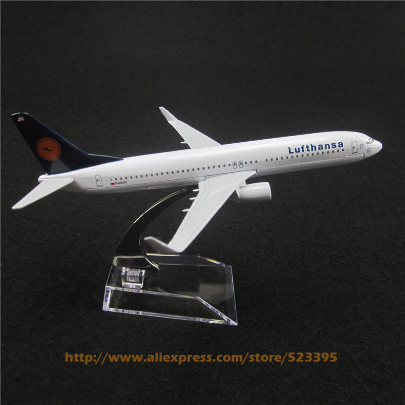 16cm Alloy Metal German AIR Lufthansa B737 Airlines Boeing 737 800 Airways Airplane Model Plane Model W Stand Aircraft Toy Gift(China (Mainland))