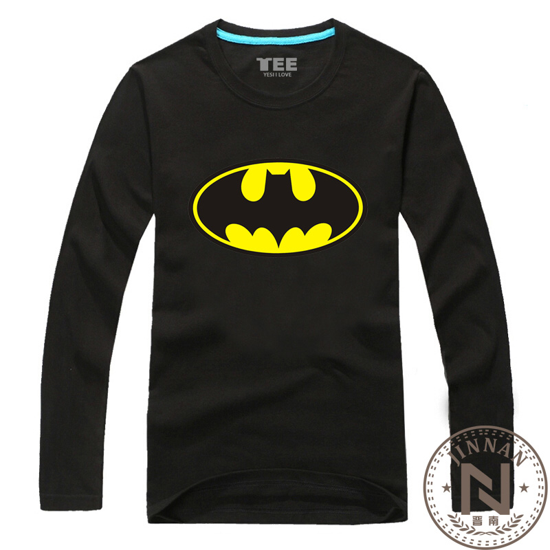 Batman long sleeve t shirt men boy movie t shirt comic Boys superhero t shirts