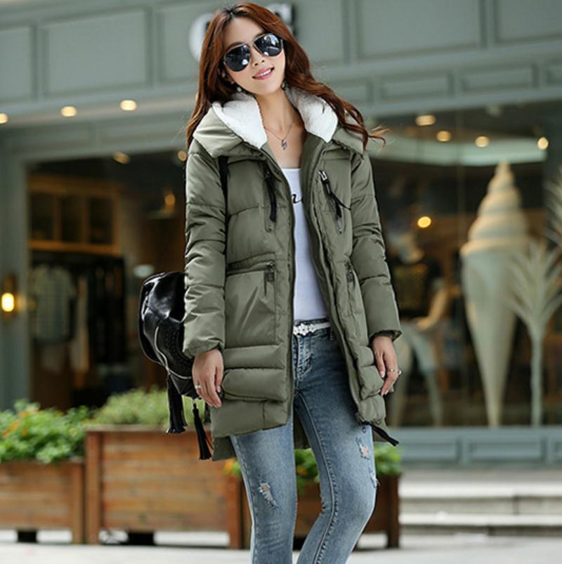 New 2016 Winter Women Wadded Jacket Red Female Outerwear Plus Size XXXL Thickening Casual Down Cotton Wadded Coat Women Parkas