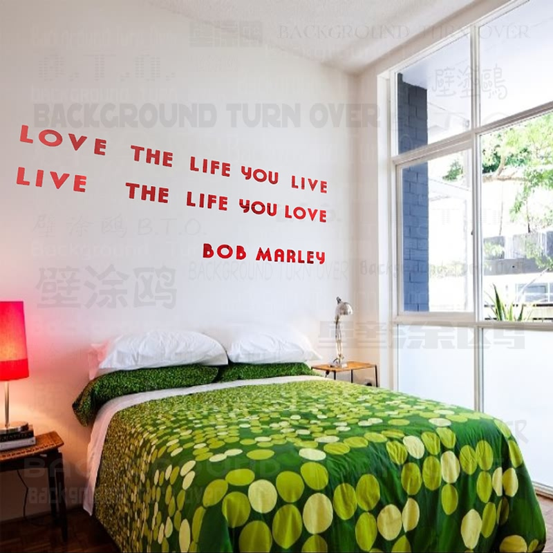 Bob Marley DIY inspirational quotes acrylic mirror decorative letters wall decals quotes home bedroom decor SGY-005