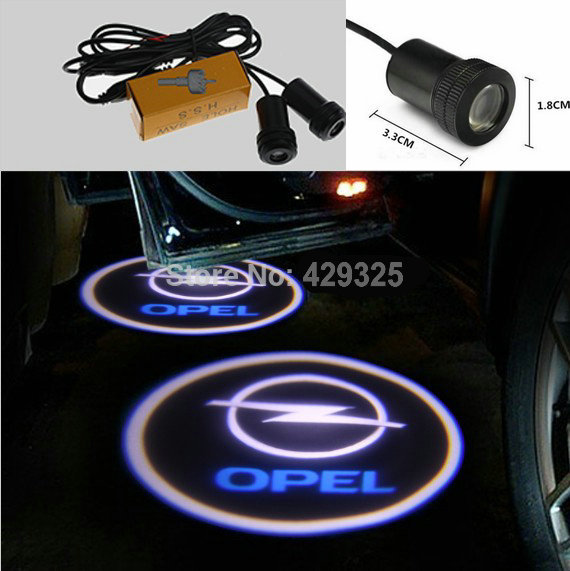 OPEL LOGO led ghost shadow light LED car logo projector auto decorative accessories emblem welcome door lights 3D laser lamp(China (Mainland))
