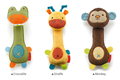20cm Rattles Lovely Animals Cute Sounding Doll Soft Crocodile Giraffe Monkey Style Plush Toys for children