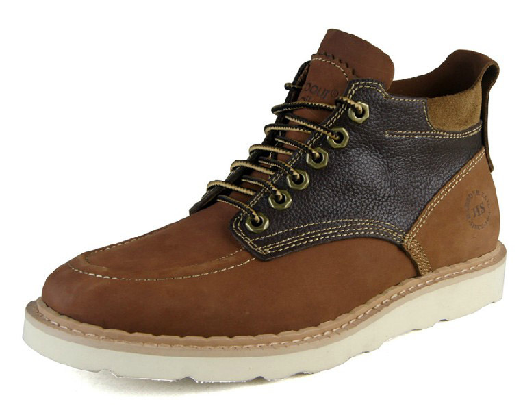 Men's boots fashion martin genuine leather casual shoes Lacing breathable vintage boots for men