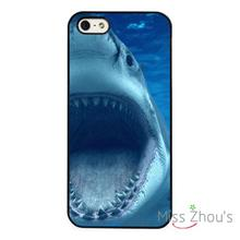 Shark Teeth Deep Blue Sea Ocean back skins mobile cellphone cases for iphone 4/4s 5/5s 5c SE 6/6s plus ipod touch 4/5/6