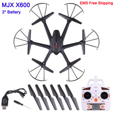 With two Battery MJX X600 UAV Kvadrokopter 2.4G 4CH 6-Axis Drones with Camera HD C4005 WIFI C4010 C4008 Drone RC Helicopters