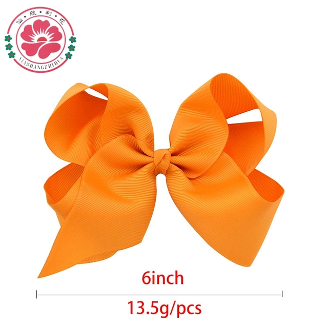 20pcs/lot  6 Inch Large Baby Ribbon Bow Hairpin Girl Bow With Clip Kid Hair Clip Boutique Hair Accessories Turban 588