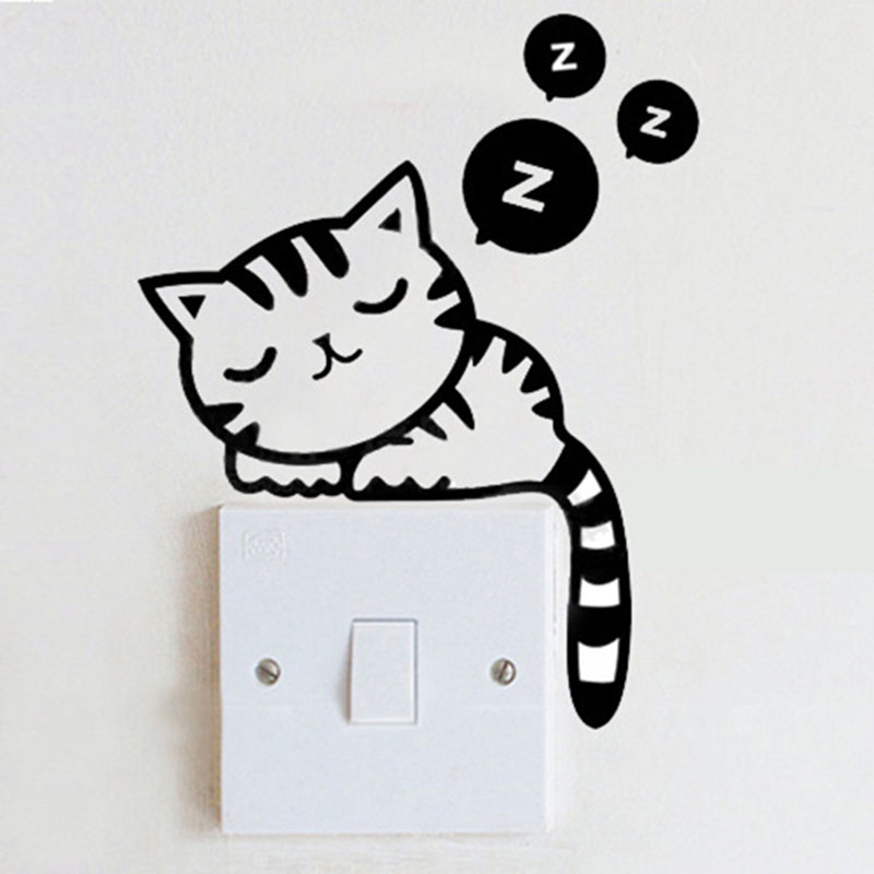 15 ideas geniales para decorar tus interruptores diy for Stickers de pared