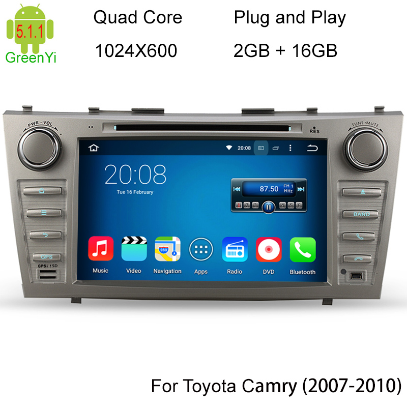 1024*600 Quad Core Android 5.1.1 Car DVD Player For Toyota Camry Aurion 2007 2008 2009 2010 2011 GPS Navigation Radio Stereo BT(China (Mainland))