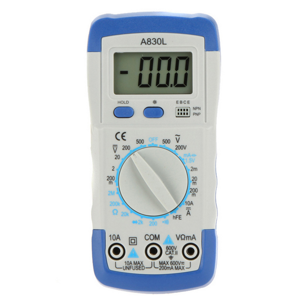 Digital Multimeter Avometer Volt Ohm Tester With LCD Backlight Display diode Test BG44(China (Mainland))