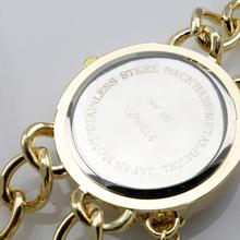 WH004 Fashion Chain Bracelet Big Face Quartz Analog Lady Wrist Watch XMAS GIFT gold Hand catenary