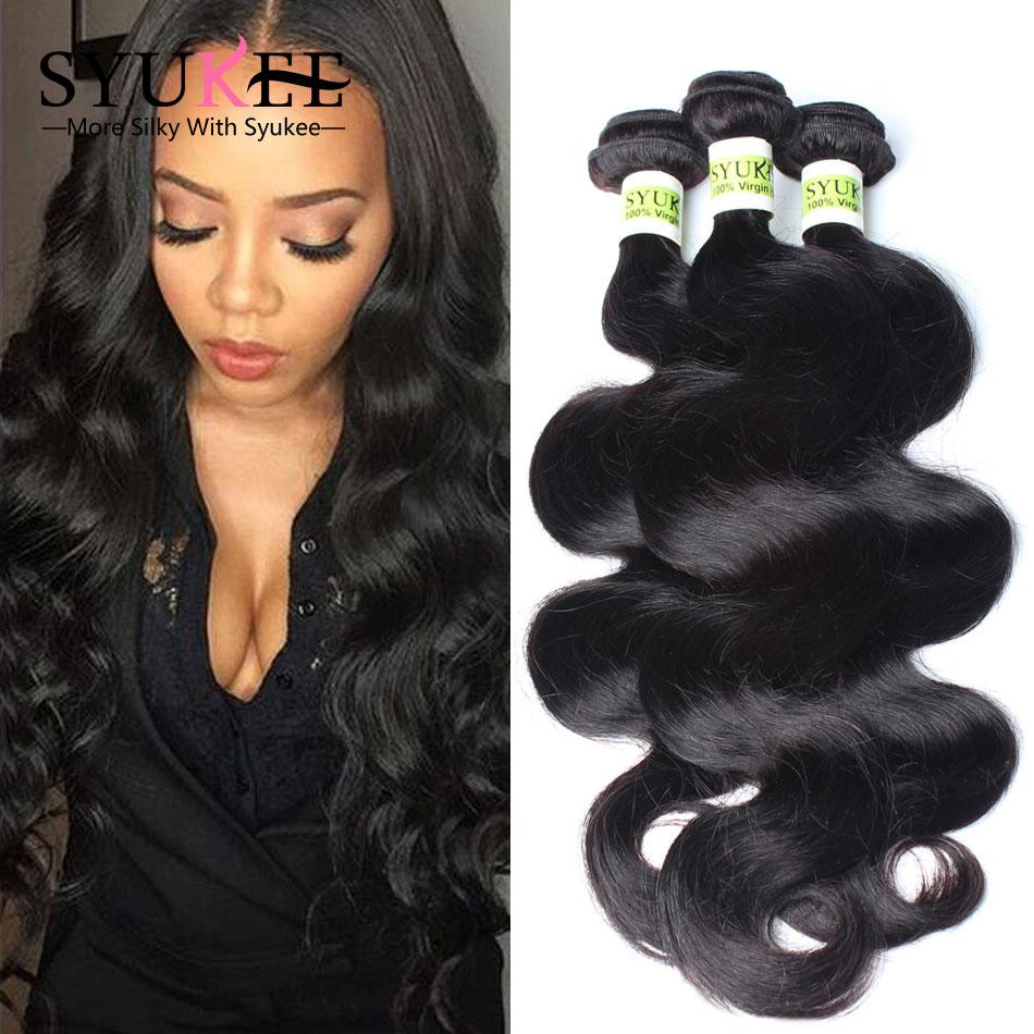 7A Grade Brazilian Virgin Hair Body Wave 3 Bundles Deal Human Hair Weave Virgin Brazilian Hair Weave Bundles Brazilian Body Wave(China (Mainland))