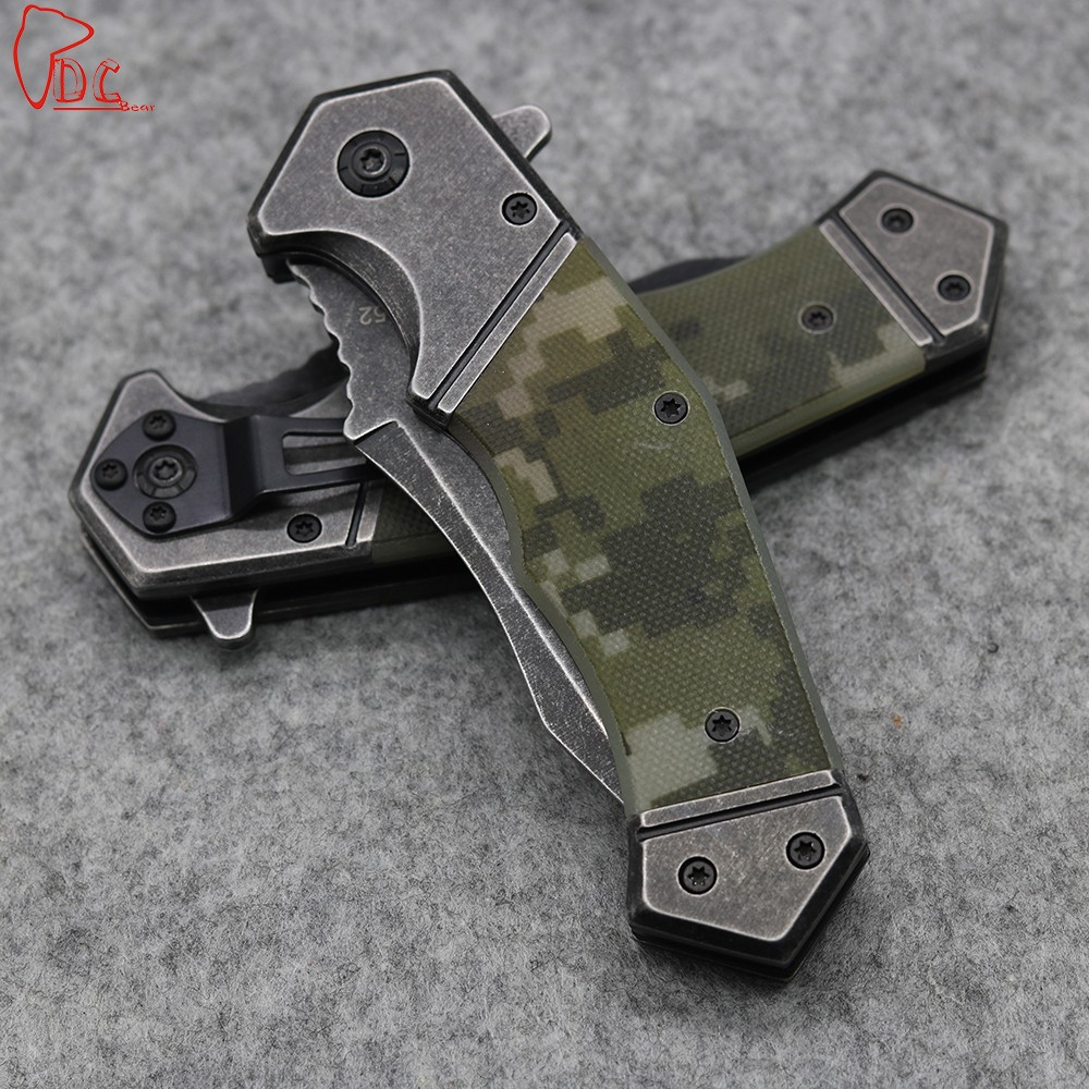 Buy Dcbear High Quality 352 Tactical Knife G10 Handle Jungle Survival Knife 8CR13MOV Steel Blade Hunting Tools EDC Tool cheap