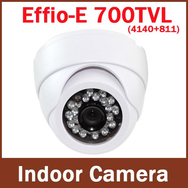 """White 1/3"""" Sony Effio-e CCD 700tvl 960H CCTV camera good Night Vision 24 leds IR security camera(China (Mainland))"""