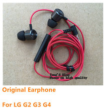 Genuine Original LE630 Headphones Earphones With Remote And Mic For LG G2 / G3 /G4/LE630 H818 D857 D802 D855(China (Mainland))