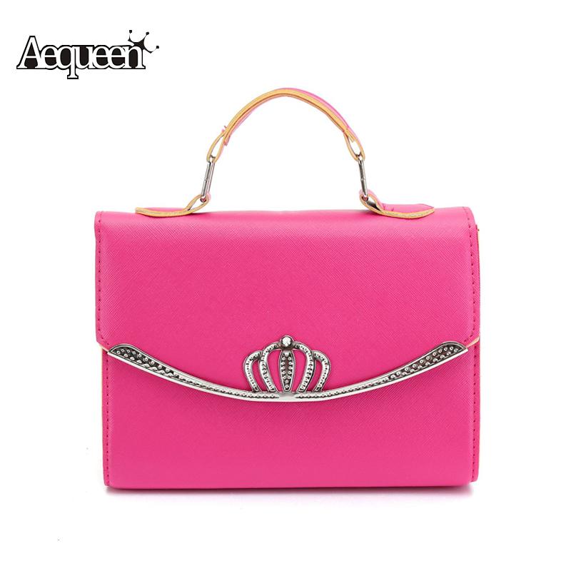Fashion Women Crown Design Trendy Handbags PU Leather Lady Elegant Shoulder Bag Portable Female Multifunction Tote Charm Gifts(China (Mainland))