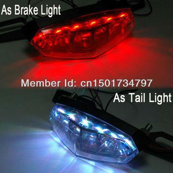 Motorcycle Rear LED Brake/Tail/Turn/License Plate Light SMOKE Universal 6 LED