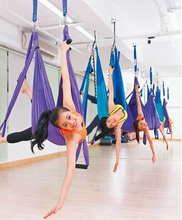 High Strength Decompression Hammock Inversion Trapeze Anti-Gravity Aerial Traction Yoga Gym Swing Hanging Purple Free shipping(China (Mainland))
